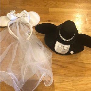 Minnie & Mickey Bride & Groom Ear Set